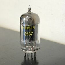 5687 Tung-sol 2 D Getter Sperry Long PL Vacuum Tubes Valves Radio Vintage Tested