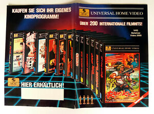 Universal Home Video KATALOG 48-seitig A4 Video-Programme VHS/BETA/Video2000 RAR