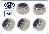 5MM (M5 - 5mm) STAINLESS STEEL NYLON INSERT NUT NYLOC NUT LOCKING NUT A2 ST/ST