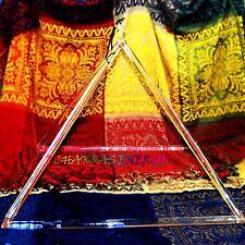 "quartz crystal sing bowl of 12"" large and strong crystal pyramid tetrahedron"