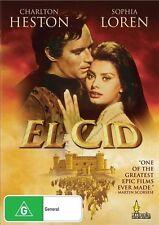 El Cid Charlton Heston Sophia Loren Region 4 DVD VGC