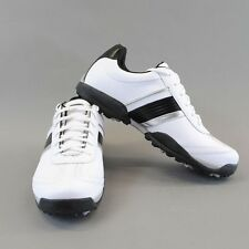 NEW Men's Geox Fusion Golf Shoe Size 41 EU / 8 US White/Black(C0404) U91G1D $170