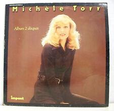 """2 x 33 tours MICHELE TORR Disques LP 12"""" CE SOIR JE T'ATTENDAIS - IMPACT 6886215"""