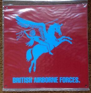 ARMY METAL SIGN - BRITISH AIRBORNE FORCES PEGASUS