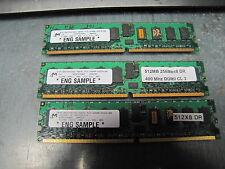 3) MICRON CIRCUIT BOARD 512MB 256MBx8 MT18HTF6472DG-40EB1 PC2-3200R-33310-B0