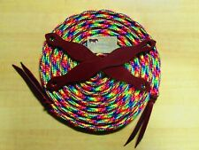 22' RAINBOW Yacht Rope Mecate, Traditional Slobber Straps By Rose Lodge Equine