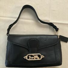 ❤️NWT Coach Small Jade Leather Crossbody Shoulder Bag Purse Black New MSRP $350