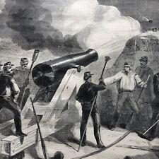 1861 Illustr newspaper Confederates Bomb Fort Sumter S Carolina Civil War Begins