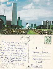 1970's GRANT PARK CHICAGO ILLINOIS UNITED STATES COLOUR POSTCARD