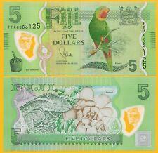 Fiji 5 Dollars p-115 2012 UNC Polymer Banknote