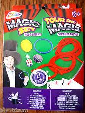"MAGIC SET rope TRICKS-13 TRICKS-INC 1 DIE, 32"" ROPE, 18"" ROPE, 8"" ROPE, COIN HOL"