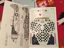 1/48 Microscale 48-0040 P-47D Thunderbolt 366, 63, 341, 319 FS