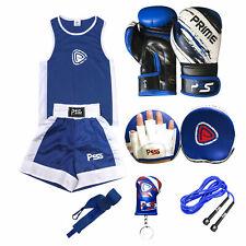 Kids Boxing Training Set 6Pcs 3-14 Year Uniform + Focuspad + boxing gloves 1012