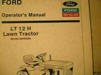 NEW HOLLAND FORD  LT 12 H LAWN YARD TRACTOR OPERATORS MANUAL TL336