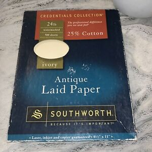 Southworth Antique Laid Paper 24 lbs 500 Sheets