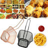Mini Chips Fries Serving Basket Stainless Steel Food French Fryers Potato Wedges