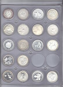 EGYPT 5 Pounds Silver 1986-1994 (24 Proof + 20 Matte) Collection All Varieties