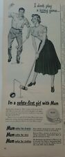 1948 Mum deodorant girl boy playing croquet Mallet ball vintage ad