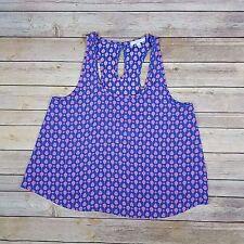 Soprano Women's Size M Lavender Blue Pink Sleeveless Scoop Neck Tank Cami Top