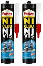 LOT CARTOUCHES COLLE FIXATION PATTEX SURPUISSANTE NI CLOU NI VIS RESISTE A L'EAU