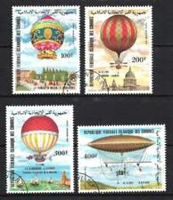 Ballons et Dirigeables Comores (37) série complète de 4 timbres oblitérés