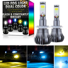 2X 881 889 LED DRL Fog Light Bulb Yellow + 8K Ice Blue Dual Color w/ Strobe Mode