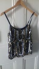 New with tags Women's Miss Selfridge Sequin Top Size 6 rrp £35