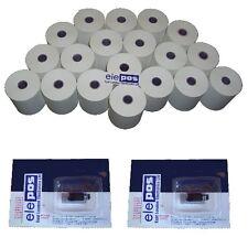 OLIVETTI ecr-300 Cash Register Starter Pack ecr300 (rotoli + Ink)