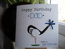 Handmade Personalised Male Golf Golfing Birthday Card Dad Husband Son Brother