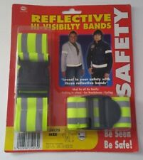 HIGH VISIBILITY ARM STRAP BANDS REFLECTIVE SAFETY RUNNING CYCLING HI FLUORESCENT