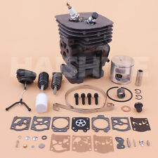 Cylinder Piston Carb Kit For Husqvarna 460 Rancher Chainsaw Top Repair 537320402