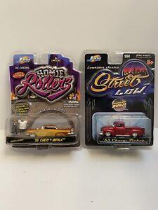 Jada Black 1953 Chevy Pickup Street Low and 59 Chevy impala 1/64