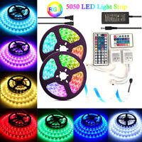 LED Strip Light 3528/5050 SMD RGB White 5M 300 12V 44Key IR Remote Power Supply
