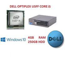 Fast Bargain Dell 790 USFF Core i5 Computer PC 4GB RAM 250GB HDD Windows 10