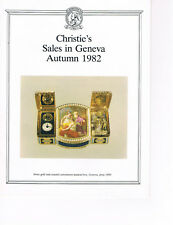Christie's - Sales in Geneva Autumn 1982