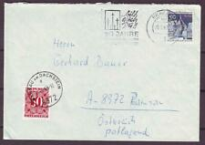d4790/ Germany Berlin Cover 1969 t/Austria w/Postage Due Issue