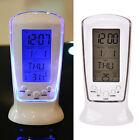 Digital Backlight LED Display Table Alarm Clock Snooze Thermometer Calendar
