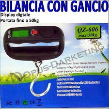 BILANCIA DIGITALE PORTATILE ELETTRONICA PESCI PESCA CACCIA CON GANCIO FINO 50KG