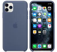 Azul Alaska Apple Original genuino Funda Silicone Case para el iPhone 11 Pro Max