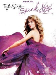 Taylor Swift Speak Now Sheet Music Piano Vocal Guitar SongBook NEW 000307210