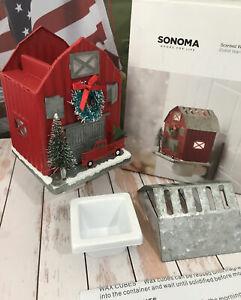 Scented Wax Cube Outlet Warmer Sonoma Red Barn Tin Roof Pickup Truck NEW Limited
