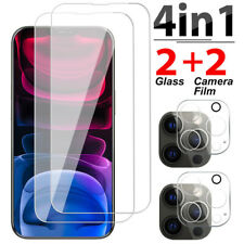 For iPhone 13 11 12 Pro Tempered Glass Screen Protector Camera Lens Protector