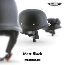 MOTO D33 MATT BLACK - CASCO DEMI-JET SCOOTER CASCHI PILOT HELMET S M L XL XXL