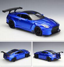 Fast &Furious Blue JADA 98271 1/24 2009 Nissan GT-R R35 Diecast Car Model W/Case