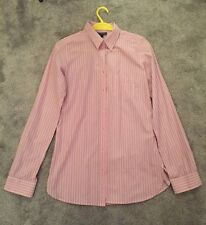 BNWT Topshop Pink And Blue Stripe Shirt Size 8