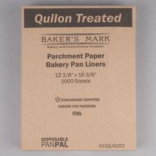 """Baker's Mark Pan Pal 12"""" x 16"""" Half Size Quilon Coated Parchment Paper Liner Bun"""