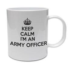 Keep Calm I'm un ufficiale dell' esercito-soldato / MARINO / divertenti a tema TAZZA IN CERAMICA