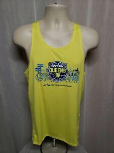 2019 NYRR Queens 10k Run Mens Small Green Sleeveless Jersey