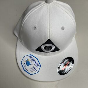 New Delta disc golf White Cap hat size S- M flex fit Frisbee Golf Frolf