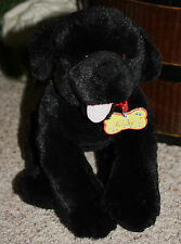 """13"""" Build A Bear Black Lab Puppy Dog Red Collar Magnetic Mouth RUDY Q1"""